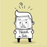 Мужчина без вредных привычек ищет работу .